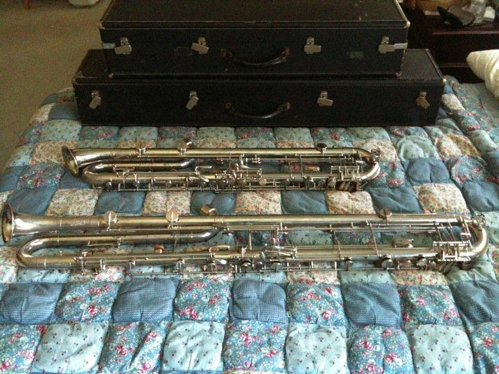 LeBlanc Contralto and Contrabass clarinet.